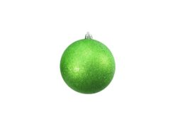 EUROPALMS Deco Ball 10cm, applegreen, glitter 4x