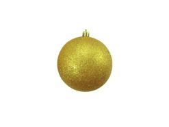 EUROPALMS Deco Ball 10cm, gold, glitter 4x