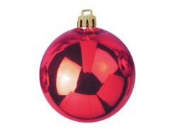 EUROPALMS Deco Ball 10cm, red 4x