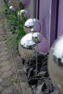 EUROPALMS Deco Ball 10cm, silver 4x