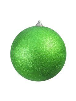 EUROPALMS Deco Ball 20cm, applegreen, glitter