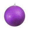 EUROPALMS Deco Ball 20cm, purple, glitter