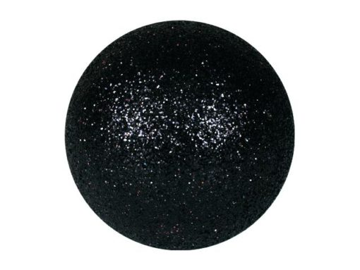 EUROPALMS Deco Ball 6cm, black, glitter 6x