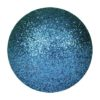 EUROPALMS Deco Ball 6cm, blue, glitter 6x