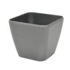 EUROPALMS Deco pot LUNA-20, rectangular, silver