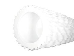 EUROPALMS Design pot LAMELLA-140, white