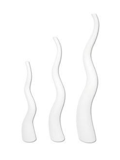 EUROPALMS Design vase WAVE-125, white