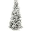 EUROPALMS Fir tree FUTURA, silver metallic, 210cm