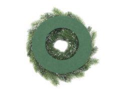 EUROPALMS Fir wreath, snowy, PE, 45cm