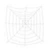 EUROPALMS Halloween Spiderweb, 180x180cm