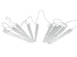 EUROPALMS LED Icicle Garland 10 x 24cm white