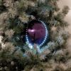 EUROPALMS LED Snowball 8cm, purple 5x