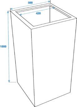 EUROPALMS LEICHTSIN BOX-100, shiny-black