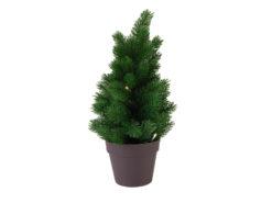 EUROPALMS PE fir tree with LEDs, 40cm