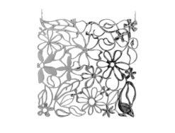 EUROPALMS Room Divider Flower silver 4x