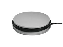 EUROPALMS Rotary Plate 25cm up to 25kg silver