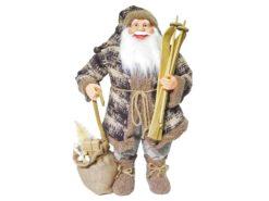 EUROPALMS Santa with ski, 60cm