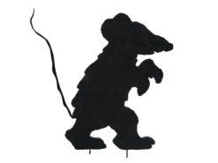 EUROPALMS Silhouette Creepy Mouse, 56cm