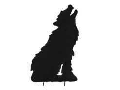 EUROPALMS Silhouette Wolf, 60cm