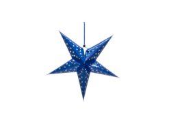 EUROPALMS Star Lantern, Paper, blue, 40 cm