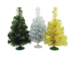 EUROPALMS Table christmas tree, silver, 45cm