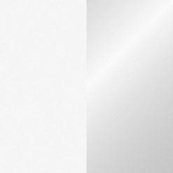 Electric confetti cannon 50cm, Bianco/Argento