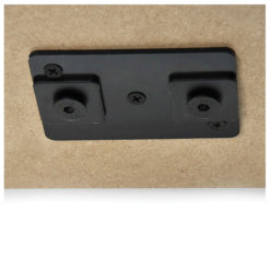 Eurotrack - Ceiling mount (loose part) Nero (rivestimento a polvere)