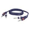 FL22 - 2 mono Jack L/R > 2 mono Jack L/R 1,5 m