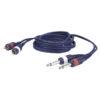 FL23 - 2 RCA Male L/R > 2 mono Jack L/R 1,5 m