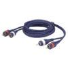 FL24 - 2 RCA Male L/R > 2 RCA Male L/R 3 m