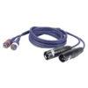 FL26 - 2 RCA Male L/R > 2 XLR/M 3 p. 3 m