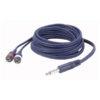 FL33 - mono Jack > 2 RCA Male L/R 1,5 m