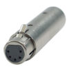 FLA30 - 3p. - 5p. XLR Adapter 3p. XLR, maschio > 5p. XLR, femmina adattatore DMX