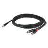 FLX30 - Stereo mini jack > 2 RCA Male corpo jack a incasso, 3m