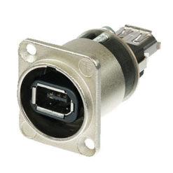 Firewire Chassis Firewire 6 con connettori IEEE 1394 a 6 poli, custodia in nichel