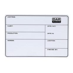 Flightcase Label DAP, magnetico con nastro 3M + pennarello