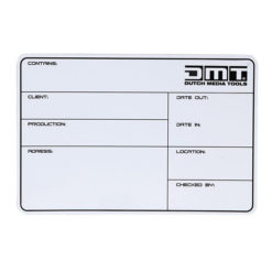 Flightcase Label DMT, magnetico con nastro 3M + pennarello