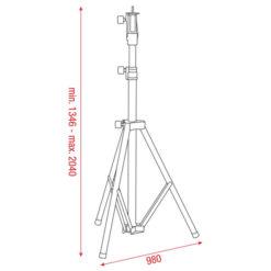 Followspot stand 1346 - 2040mm