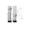 GUIL PTA-440/60-100 Telescopic Foot