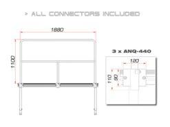 GUIL TMQ-02/440 Stage Rail 188 cm (Aluminium Version)