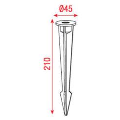 Garden spike A 210mm/45mm