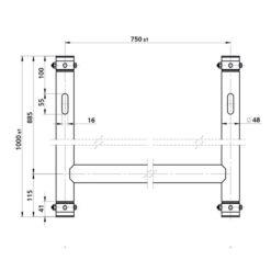 H-Downrigger Alluminio (GT/GQ)
