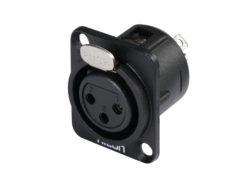 HICON XLR mounting plug 3pin HI-X3DF-M