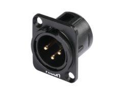 HICON XLR mounting plug 3pin HI-X3DM