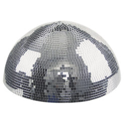 Half-mirrorball 30 cm Semisfera specchiata da 30 cm per montaggio su pareti e soffitto con motore