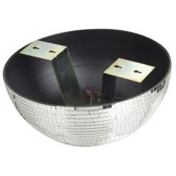 Half-mirrorball 50 cm Semisfera specchiata da 50 cm per montaggio su pareti e soffitto con motore