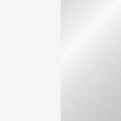 Handheld confetti cannon 50cm, Bianco/Argento