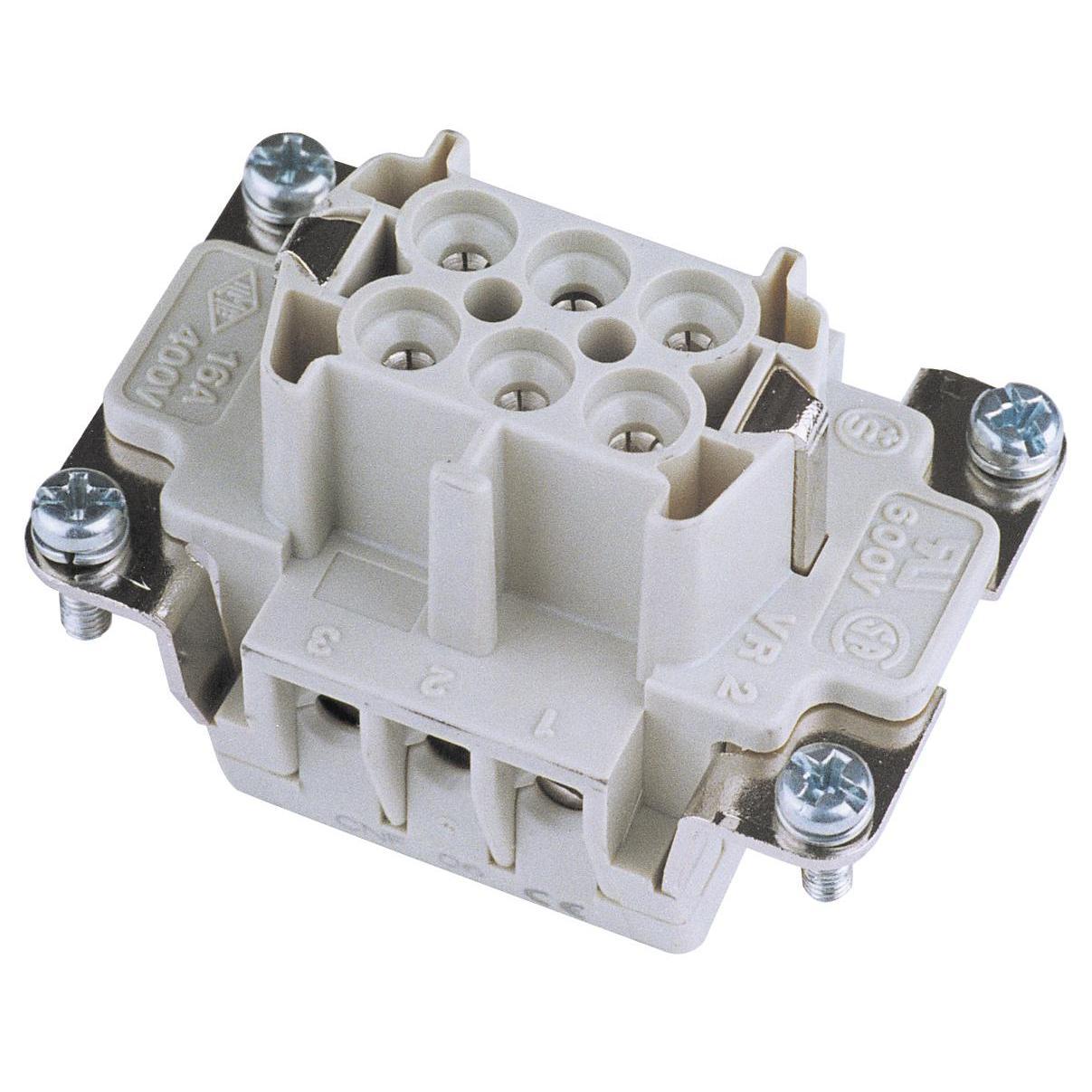 ILME Socket Insert 6-pin 16A, Screw Terminal