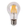 LED Bulb Clear WW E27 8W, non regolabile con dimmer