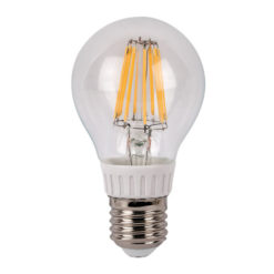 LED Bulb Clear WW E27 8W, regolabile con dimmer